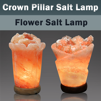 Crown Pillar and Flower Salt Lamps Exporters