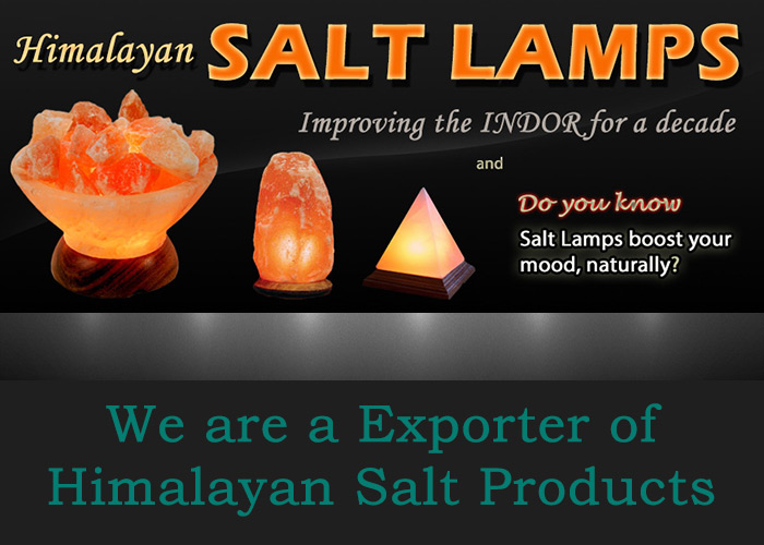 Himalayan Pink Salt Lamps from Pakistan