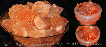 Himalayan Salt Crystal Bowl Lamps in Pakistan