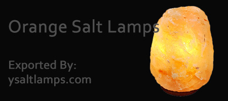 Himalayan Orange Salt Crystal Lamps in Pakistan