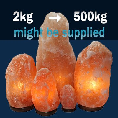 Wholesale supplier of Natural Salt Lamps from Pakistan