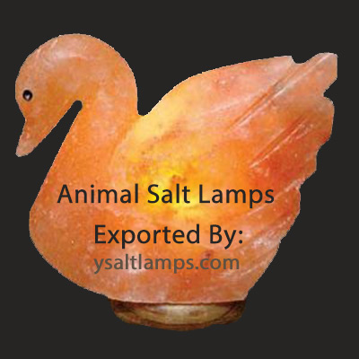 Duck Shape Animal Salt Lamp Exporters from Pakistan
